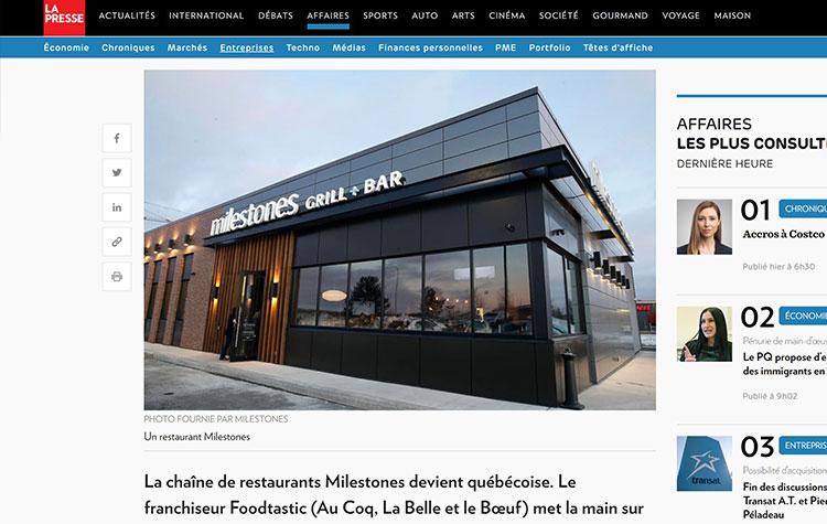 La chaîne Milestones arrive au Québec