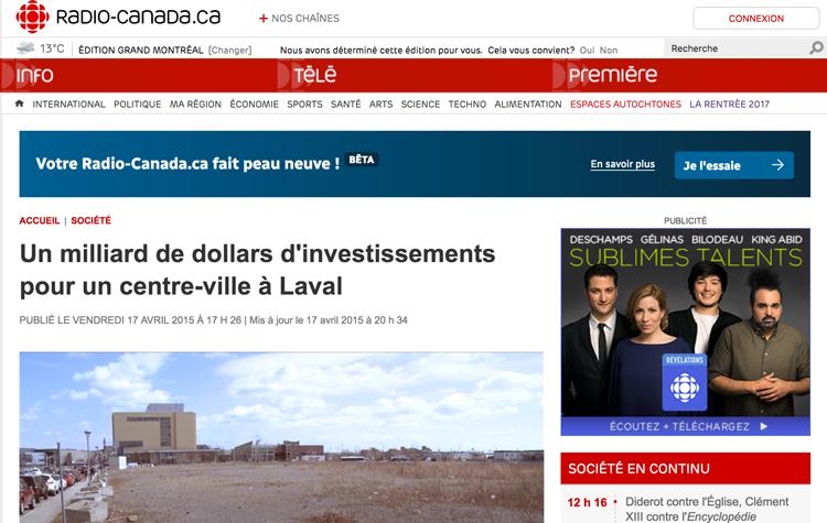 Un milliard de dollars d'investissements pour un centre-ville à Laval